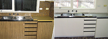 Kitchen Resurfacing Before & After